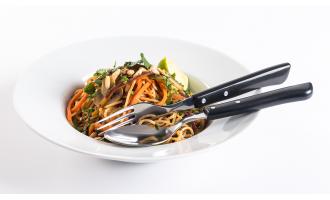 Receitas Nicul: Noodles de Ovo com Legumes e Cogumelos Salteados